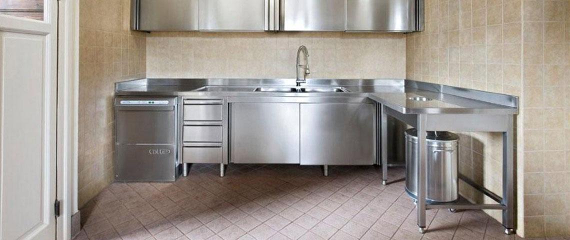 Mobili Cucina Professionale Acciaio.Inganni Arredamento In Acciaio Su Misura Brescia